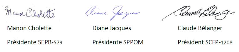 signatures intersyndicales